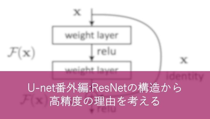 U-net番外編:ResNetの構造から高精度の理由を考える