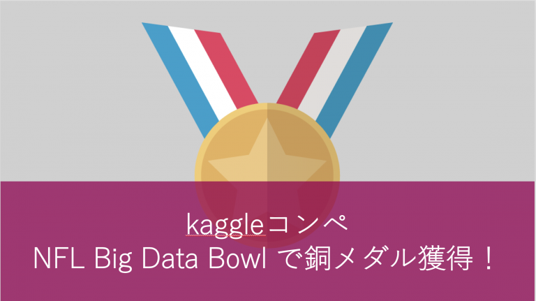 kaggleコンペNFL Big Data Bowl で銅メダル獲得!勝因は「特徴量エンジニアリング」
