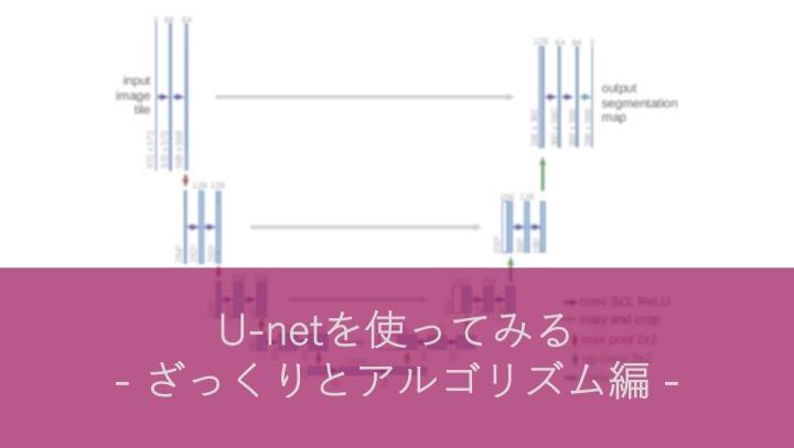 U-netを使ってみる〜ざっくりとアルゴリズム編〜